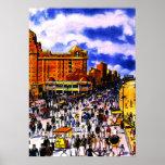 Vintage Atlantic City Boardwalk Crowd Poster