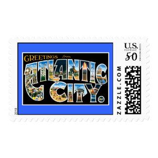 Vintage atlantic city card postage