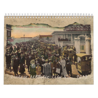 Vintage Atlantic City New Jersey  2013 Calendar