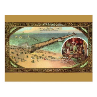 Vintage Atlantic City Pier Postcard