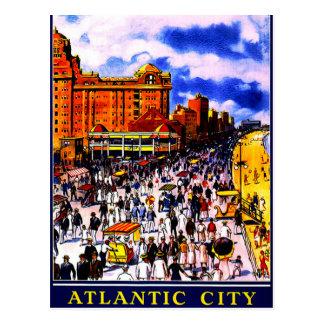Vintage Atlantic City Train Travel Postcard