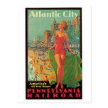 Vintage Atlantic City Travel Ad Postcards