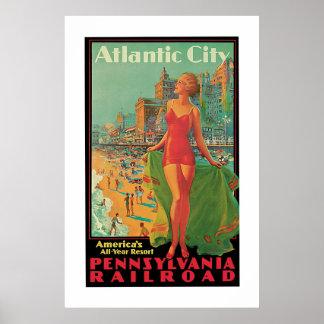 Vintage Atlantic City Travel Ad Posters