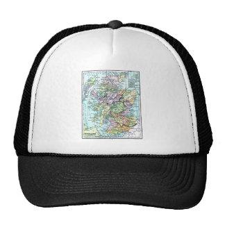 Vintage Atlas Map - Scotland Trucker Hat