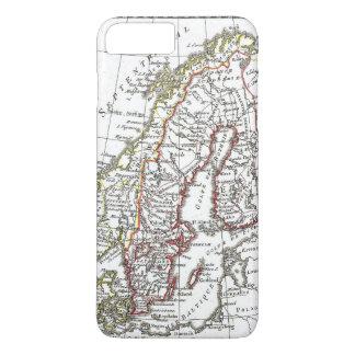 Vintage Atlas Sweden Denmark Scandinavia Map iPhone 7 Plus Case
