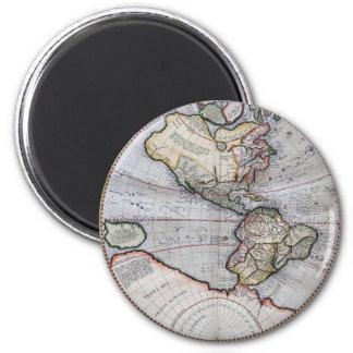 Vintage Atlas World Map 2 Inch Round Magnet