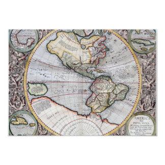 Vintage Atlas World Map Card
