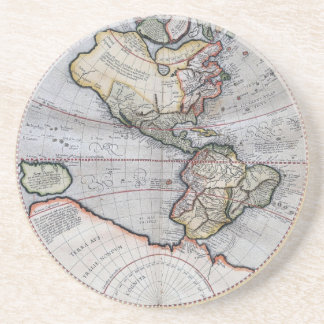 Vintage Atlas World Map Coaster