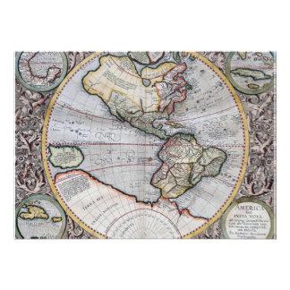 Vintage Atlas World Map Custom Invites