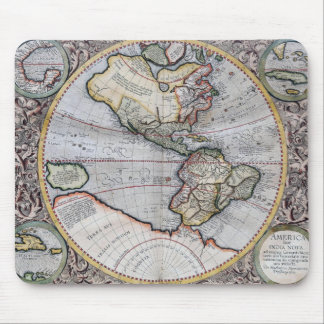 Vintage Atlas World Map Mouse Pad