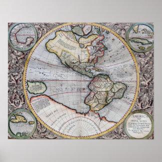 Vintage Atlas World Map Poster