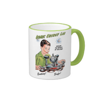 Vintage Atomic Energy Lab Toy Ringer Mug
