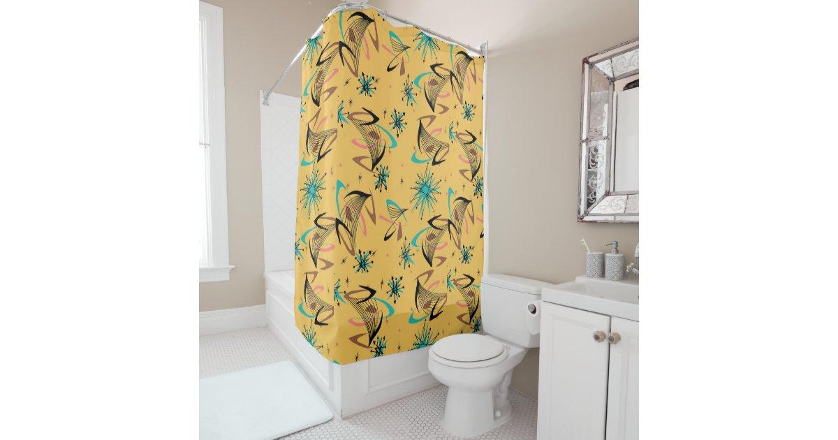 Vintage, Atomic, Mid Century Modern, Retro Shower Curtain | Zazzle.com