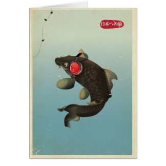 Vintage Audio Koi Card