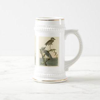 Vintage Audubon's Yellow crowned night heron paint 18 Oz Beer Stein