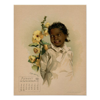 Vintage August 1891 beautiful children drawing Poster