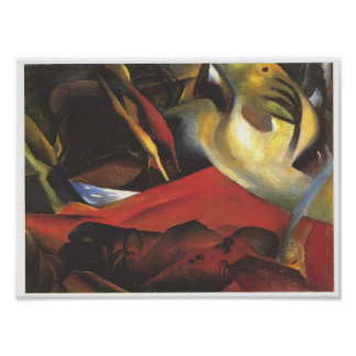 Vintage August Macke The Tempest Poster