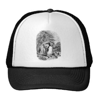 Vintage Auk Puffin Penguin Bird - Puffins Birds Trucker Hat