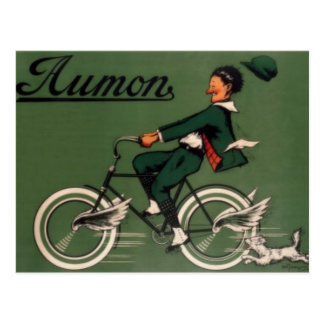 Vintage Aumon Bicycle Advertisement Postcard