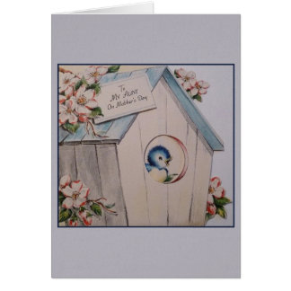 Vintage Aunt Mother's Day Greeting Card