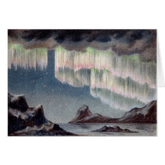 Vintage Aurora Borealis - Northern Lights Card