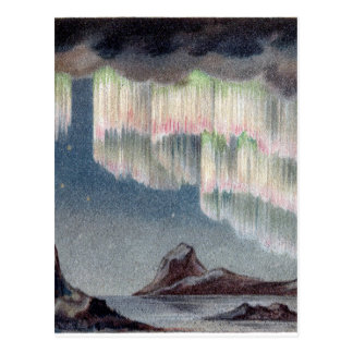 Vintage Aurora Borealis - Northern Lights Postcard