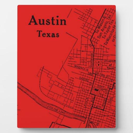 Vintage Austin Red Display Plaque