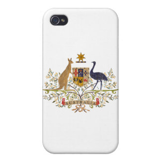 Vintage Australia Coat Of Arms Covers For iPhone 4