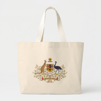 Vintage Australia Coat Of Arms Large Tote Bag