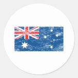 Vintage Australia Etiqueta Redonda