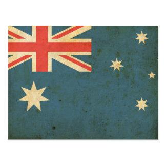 Vintage Australia Flag Postcard