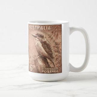 Vintage Australia Kookaburra Bird Coffee Mug
