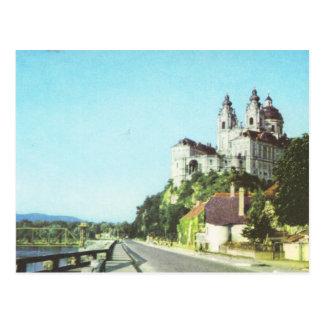 Vintage Austria Abbey of Melk, Wachau, Postcard