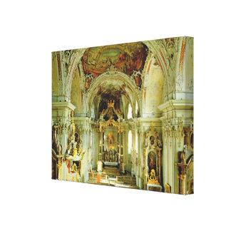 Vintage   Austria, Basilica Wilten, Innsbruck Canvas Print