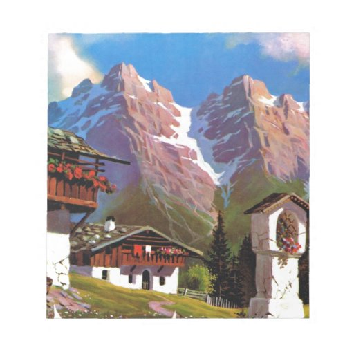 Vintage Austria, Bildstock, pueblo tirolés Bloc De Papel
