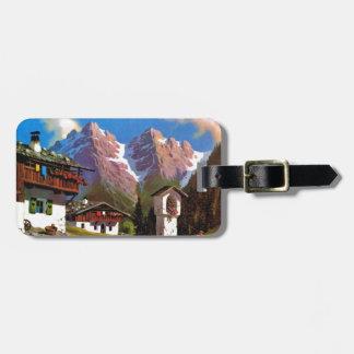 Vintage Austria, Bildstock, Tyrolean village Bag Tags