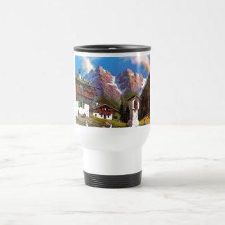 Vintage Austria Bildstock Tyrolean village Mugs