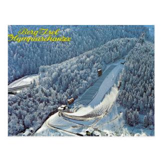 Vintage Austria, iceberg Isel, salto de esquí olím Tarjeta Postal