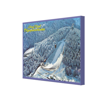 Vintage Austria, Innsbruck, iceberg Isel, esquí ol Impresión En Tela