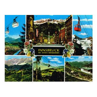 Vintage Austria, Innsbruck Multiview Postcard