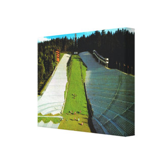 Vintage Austria, Innsbruck, salto de esquí olímpic Impresión En Lienzo