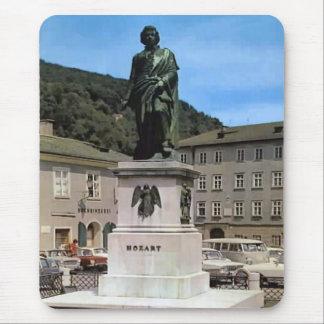 Vintage Austria monumento de Mozart Tapete De Raton