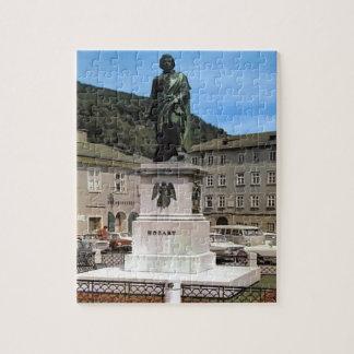Vintage Austria, Mozart Memorial Jigsaw Puzzle