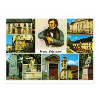 Vintage Austria, Places linked to Franz Schubert Postcard