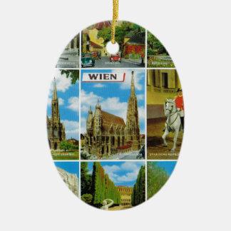 Vintage Austria, Wien, Viena, Multiview Ornamente De Reyes