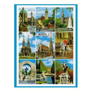 Vintage Austria, Wien, Viena, Multiview Tarjeta Postal