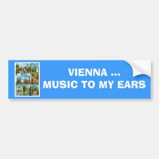 Vintage Austria, Wien, Vienna, Multiview Bumper Sticker