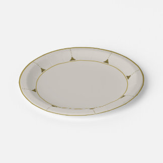 Vintage Austrian Gold Arts & Crafts Paper Plate 7 Inch Paper Plate