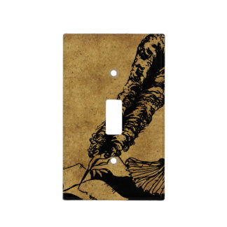 Vintage Author Light Switch Plate