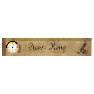Vintage Author Nameplate